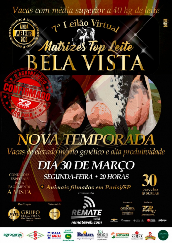 7° Leilão Virtual Top Leite Bela Vista